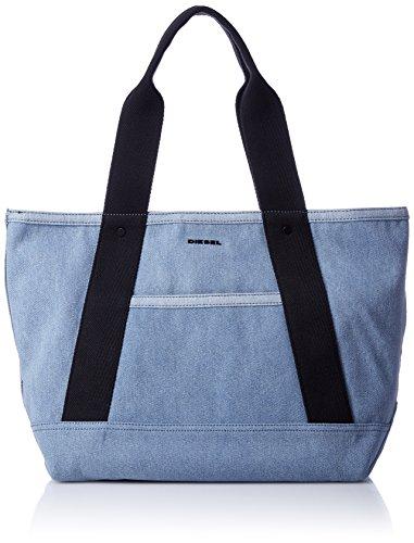 (ディーゼル) DIESEL メンズ トートバッグ ALL4U F-ALL4U TOTE DENIM - shopping bag X05445P0585 UNI (Free) ライトインディゴブルー H4865