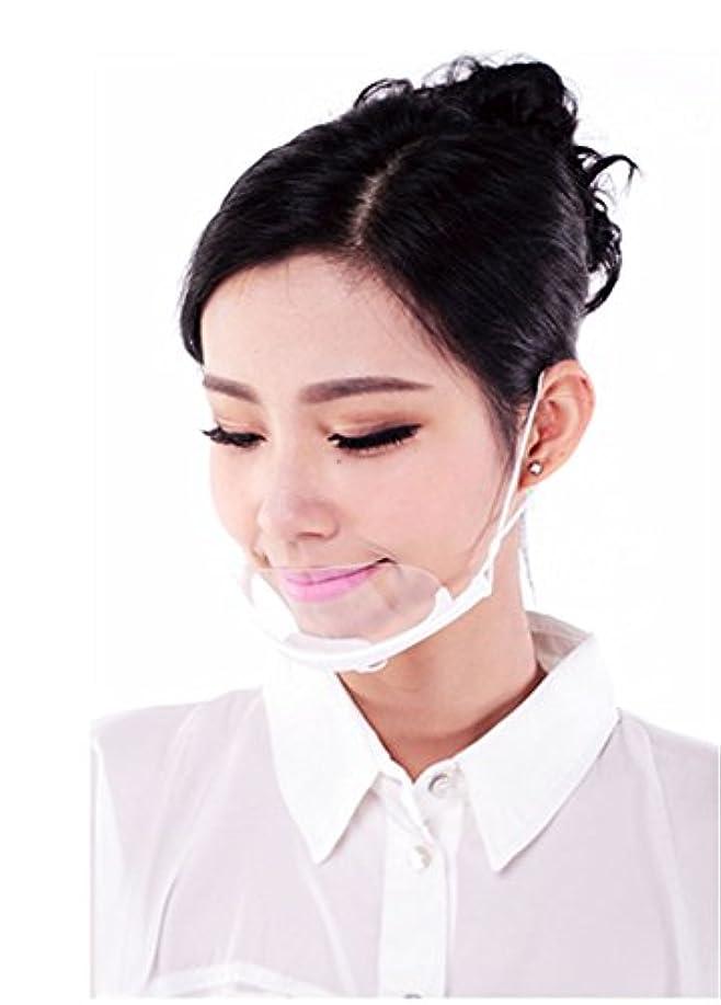 コンバーチブル推進ジムLuckerjun 透明 衛生マスク 耳掛けタイプ スマイルクリアー 繰り返し使える 唾 息 飛散防止 公衆 衛生 業務 美容 理容用 10個セット