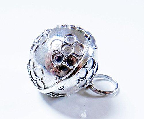 [해외][Silver925] RainbowSpirit 꽃 Flower 모양의 가믈란 공 : 자 원 타입 (21mm)/[Silver 925] Rainbow Spirit Flower Flower Patterned Gamelan Bowl: Jawan Type (21 mm)