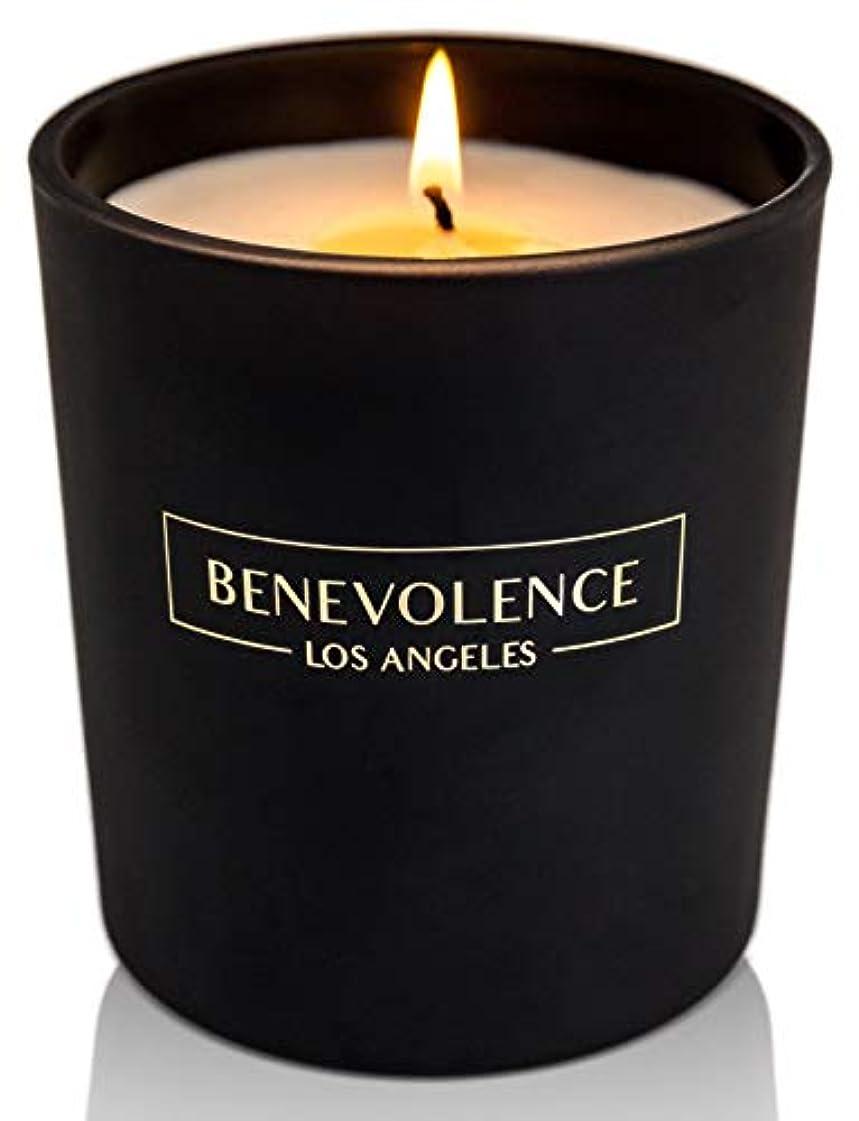 処方ブラウズはしご(Rose + Sandalwood) - Soy Scented Candle Natural Rose & Sandalwood Strong Fragrance Matte Black Glass for Charity