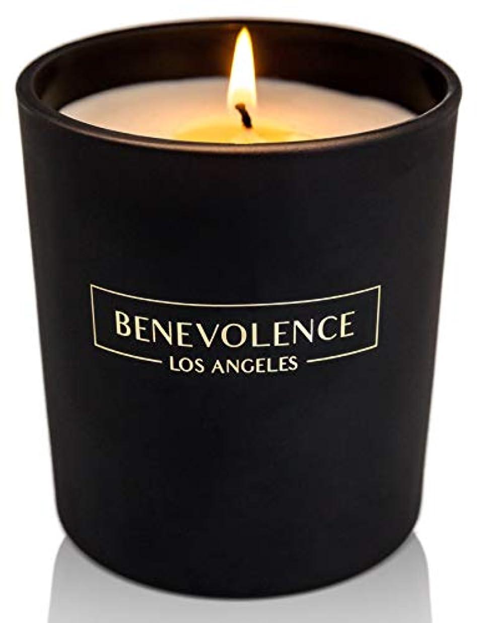 コード思われるカビ(Rose + Sandalwood) - Soy Scented Candle Natural Rose & Sandalwood Strong Fragrance Matte Black Glass for Charity