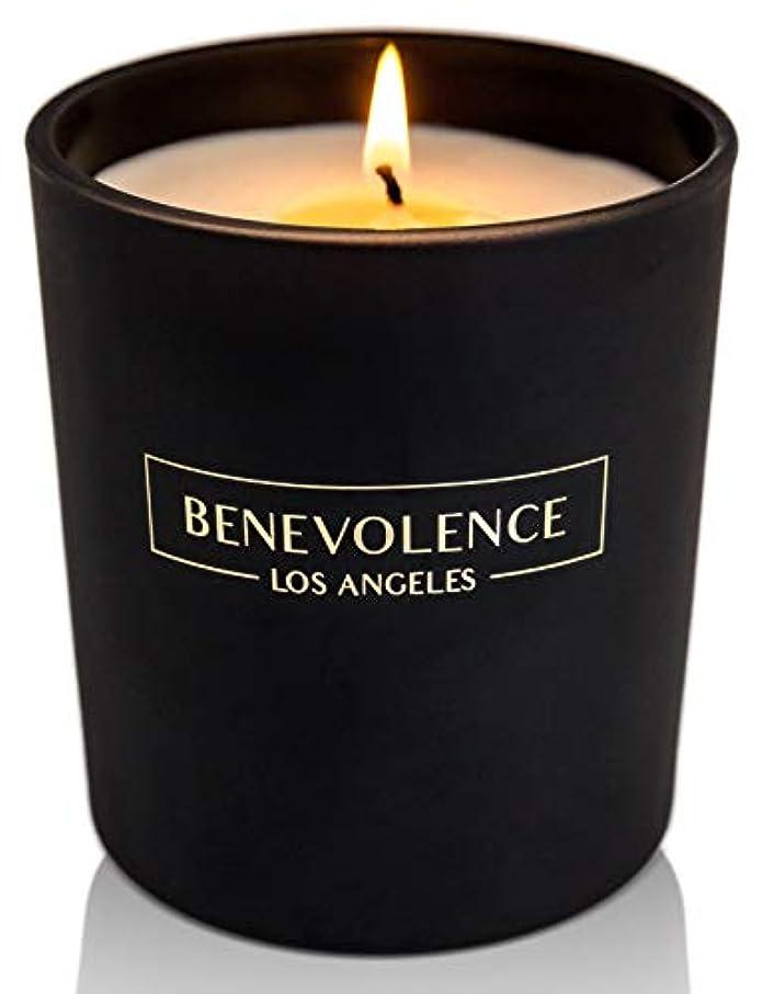 床を掃除する状しなやかな(Rose + Sandalwood) - Soy Scented Candle Natural Rose & Sandalwood Strong Fragrance Matte Black Glass for Charity