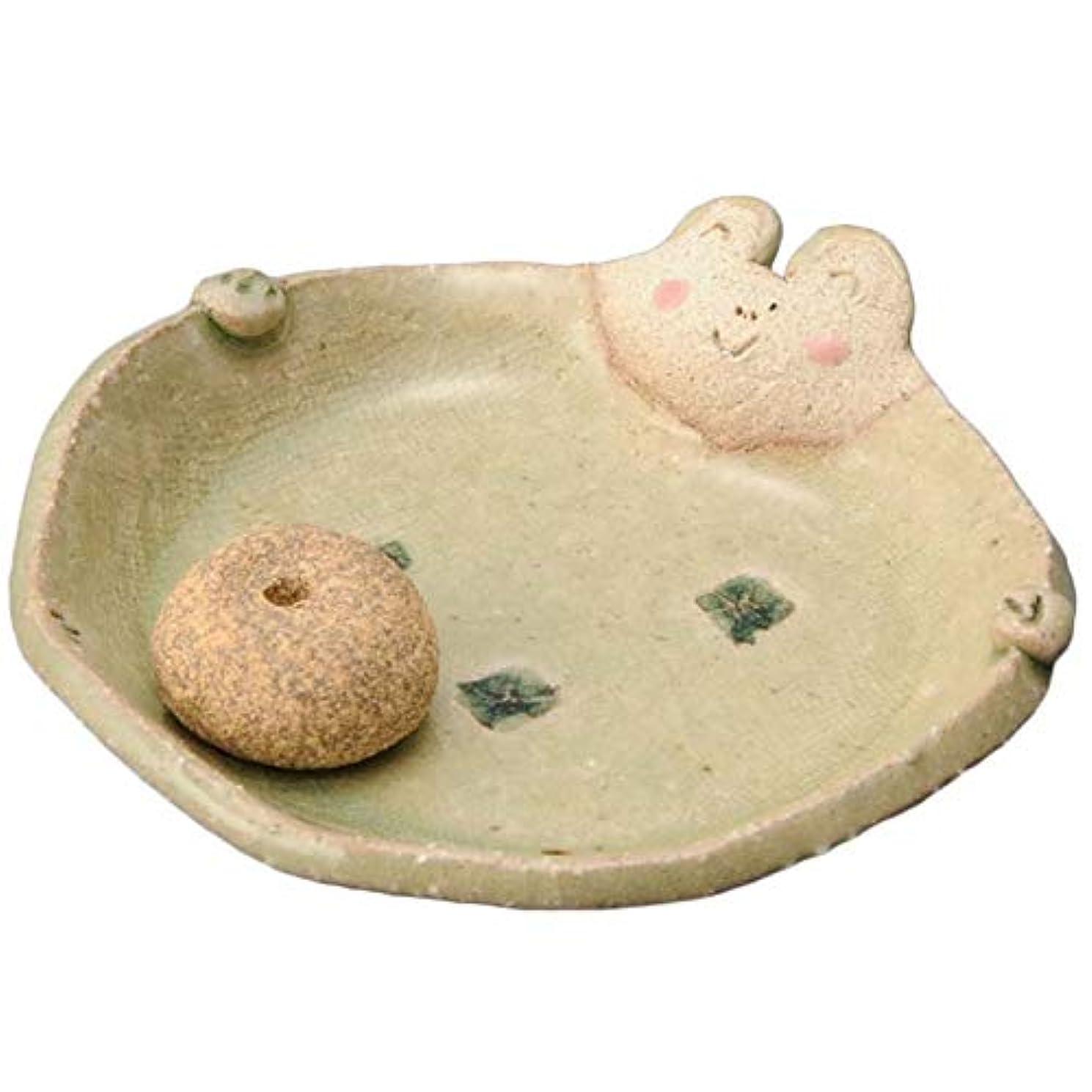 日付付き色合いみぞれ手造り 香皿 香立て/ふっくら 香皿(カエル) /香り アロマ 癒やし リラックス インテリア プレゼント 贈り物