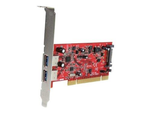 StarTech.com USB 3.0 2ポート増設PCIカード 2x USB 3.0 A (メス) 1x SATA電源コネクタ(15ピン) USBバスパワー900mA供給 PCIUSB3S22