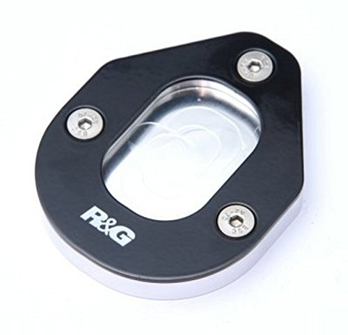 R&G(アールアンドジー) キックスタンドシュー アルミニウム/ステンレス シルバー/ブラック Caponord1200/V4 Tuono 1100(15-)、RSVR 1000(06-)、Mana850(07-)、Tuono(05-)、Shiver750(07-) RG-PKS0025SI