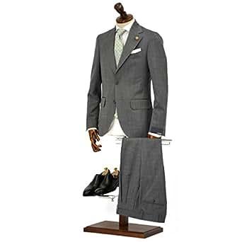 LARDINI【ラルディーニ】シングルスーツ ROW JM47005AQ EERP50490 43 ウール ピンドット グレー(42)
