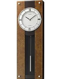 リズム時計 掛け時計 電波 アナログ 振り子 モダンライフM01 木 茶 (半艶仕上げ) RHYTHM 4MXA01RH06