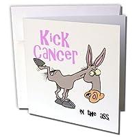 ドゥーニデザインズ意識リボンデザイン–Kick Assでがん意識リボン原因デザイン–グリーティングカード Individual Greeting Card
