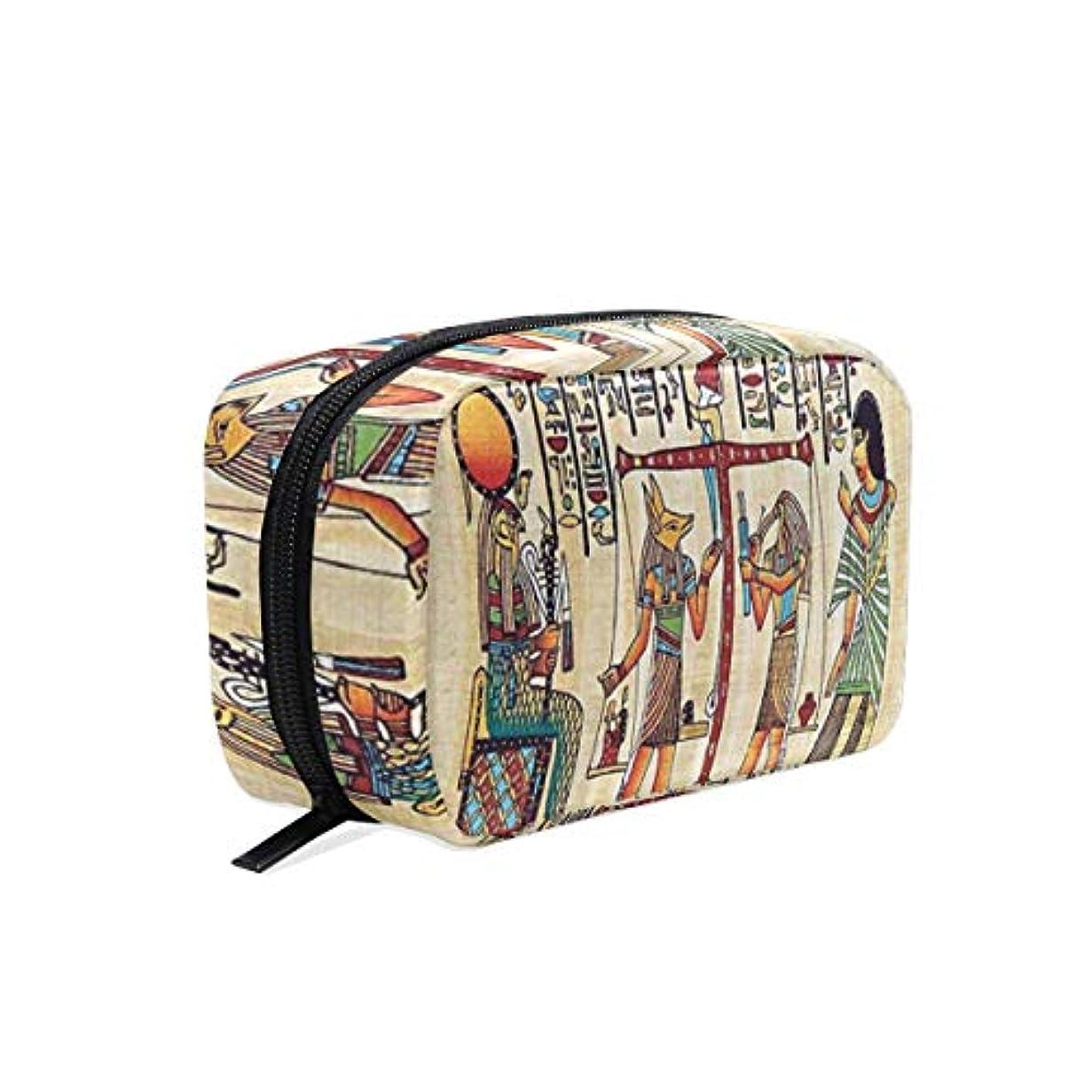 笑耐久ハイキングCW-Story エジプト装飾 女性の化粧ポーチ コスメケース 旅行 化粧品 収納 雑貨 小物入れ 出張用バック 超軽量 機能的 大容量