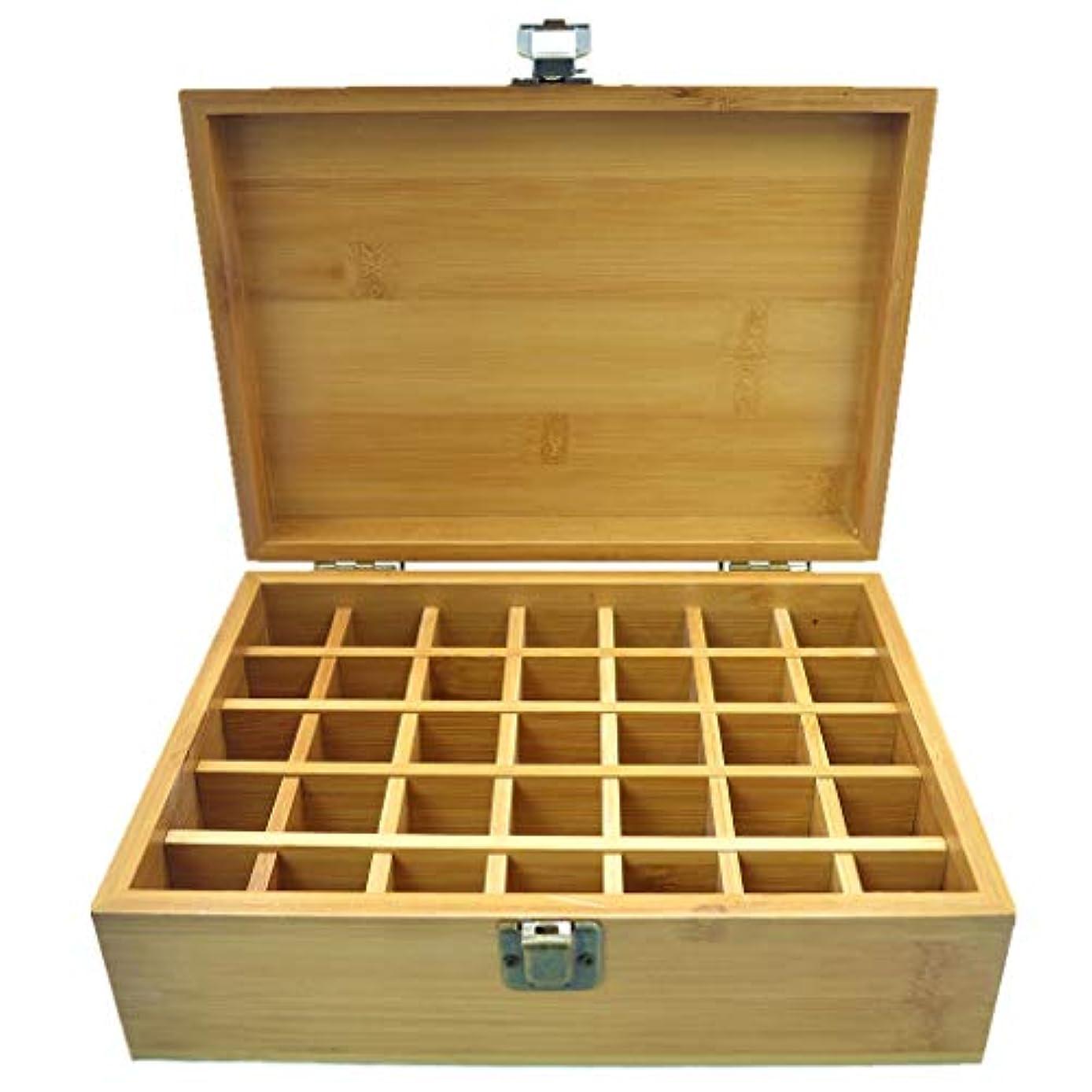 ゆり物理学者湿度PhantomSky エッセンシャルオイル収納ボックス 35本用 竹製エッセンシャルオイルボックス メイクポーチ 精油収納ケース 携帯用 自然ウッド精油収納ボックス 香水収納ケース
