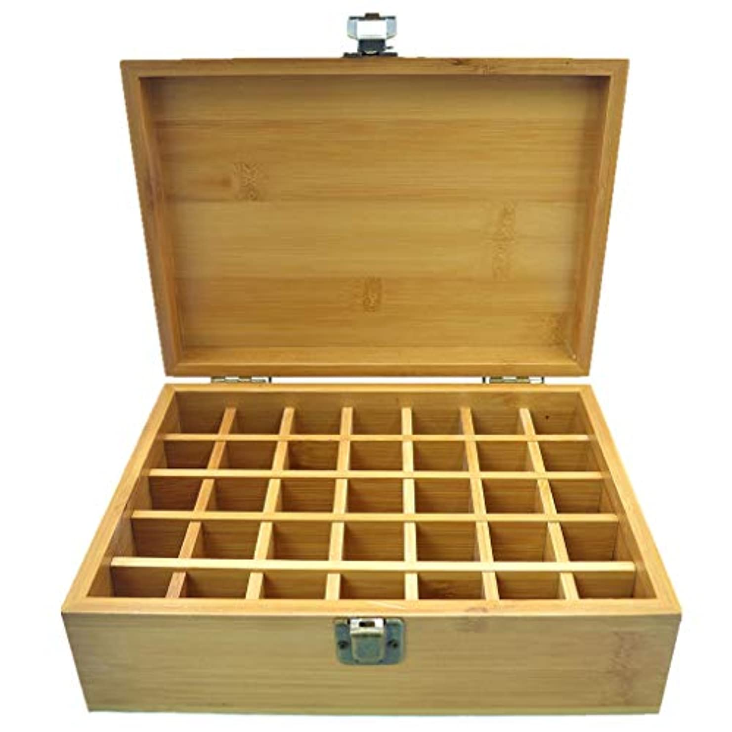 アウター技術的なプロテスタントPhantomSky エッセンシャルオイル収納ボックス 35本用 竹製エッセンシャルオイルボックス メイクポーチ 精油収納ケース 携帯用 自然ウッド精油収納ボックス 香水収納ケース