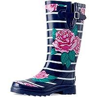 landchief Women's Knee High Rain Boots Waterproof Women Rain Footware, Garden Boots