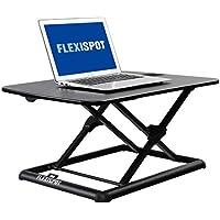 FlexiSpot ノートパソコンデスクライザー 26インチ スタンディングデスクシット スタンドアップコンバーター ノートパソコン用 (ML1B ブラックノートパソコンスタンド)