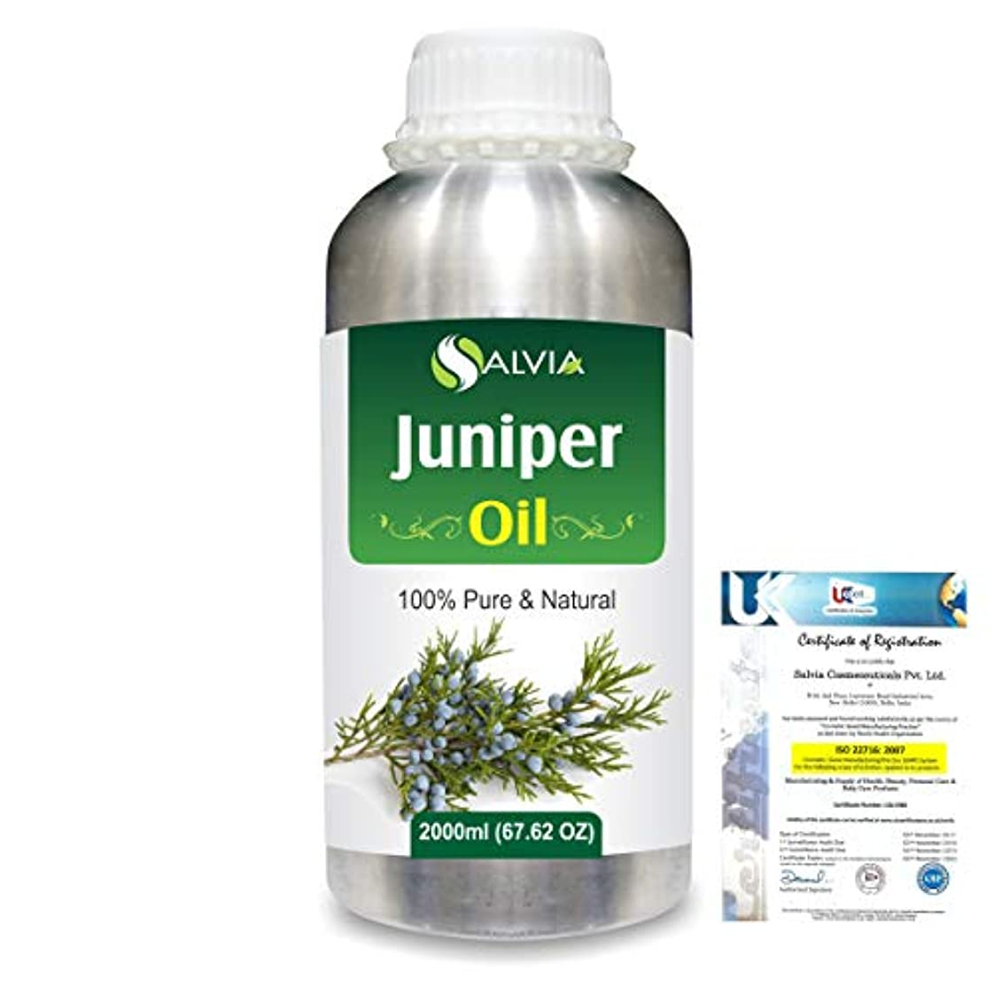 苦味運搬軽蔑Juniper (Juniperus communis) 100% Natural Pure Essential Oil 2000ml/67 fl.oz.