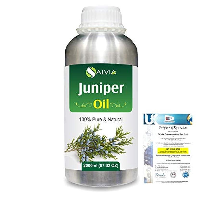 ミリメーター思いやりのある要塞Juniper (Juniperus communis) 100% Natural Pure Essential Oil 2000ml/67 fl.oz.