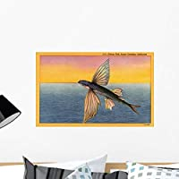 Wallmonkeys Flying Fish Wall Decal Peel and Stick Graphic WM164131 (24 in W x 15 in H) [並行輸入品]