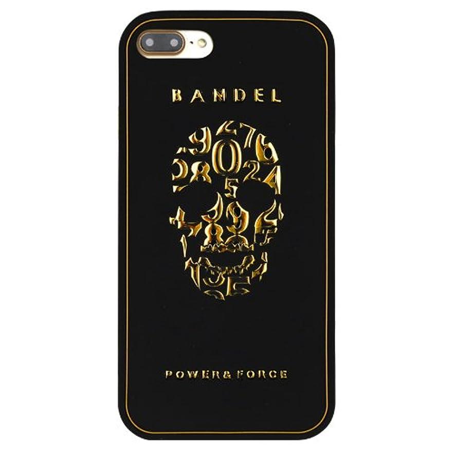 求めるリア王ランドリーバンデル(BANDEL)iPhone7 ケース スカル[ブラック×ゴールド]/スマホケース iPhoneケース iPhone用