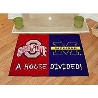 家分割フロアマットW公式チームロゴ–Ohio State & Michigan
