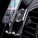 【2019最新版】DesertWest スマホ車載ホルダー スマホホルダー 携帯車載ホルダー エアコン吹き出し口取り付け スマートフォンカーホルダー 斬新なギア連動技術/片手操作可能/自由調節可能/360度回転可能/ 4.7-6.5インチ多機種対応 iPhone/Samsung/Huawei/LG など