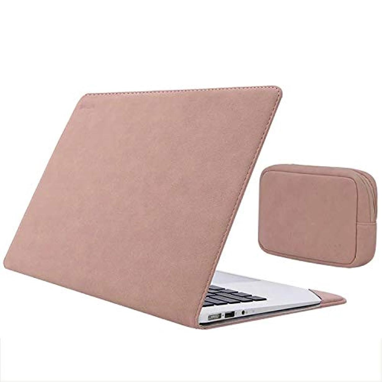 ボード具体的にエゴイズムSurface Laptop2 ケース/カバー 手帳型 レザー 電源収納ポーチ付き おしゃれ サーフェス ラップトップ2用 手帳型タイプ レザーケース/カバー おしゃれ タブレットケース/カバー(ローズピンク)