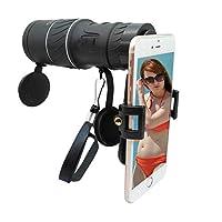 HD 16x52携帯電話望遠レンズキットスマートフォン双眼鏡Iphone用Samsung HTC HuaweiとMor(ユニバーサルアダプタ付)