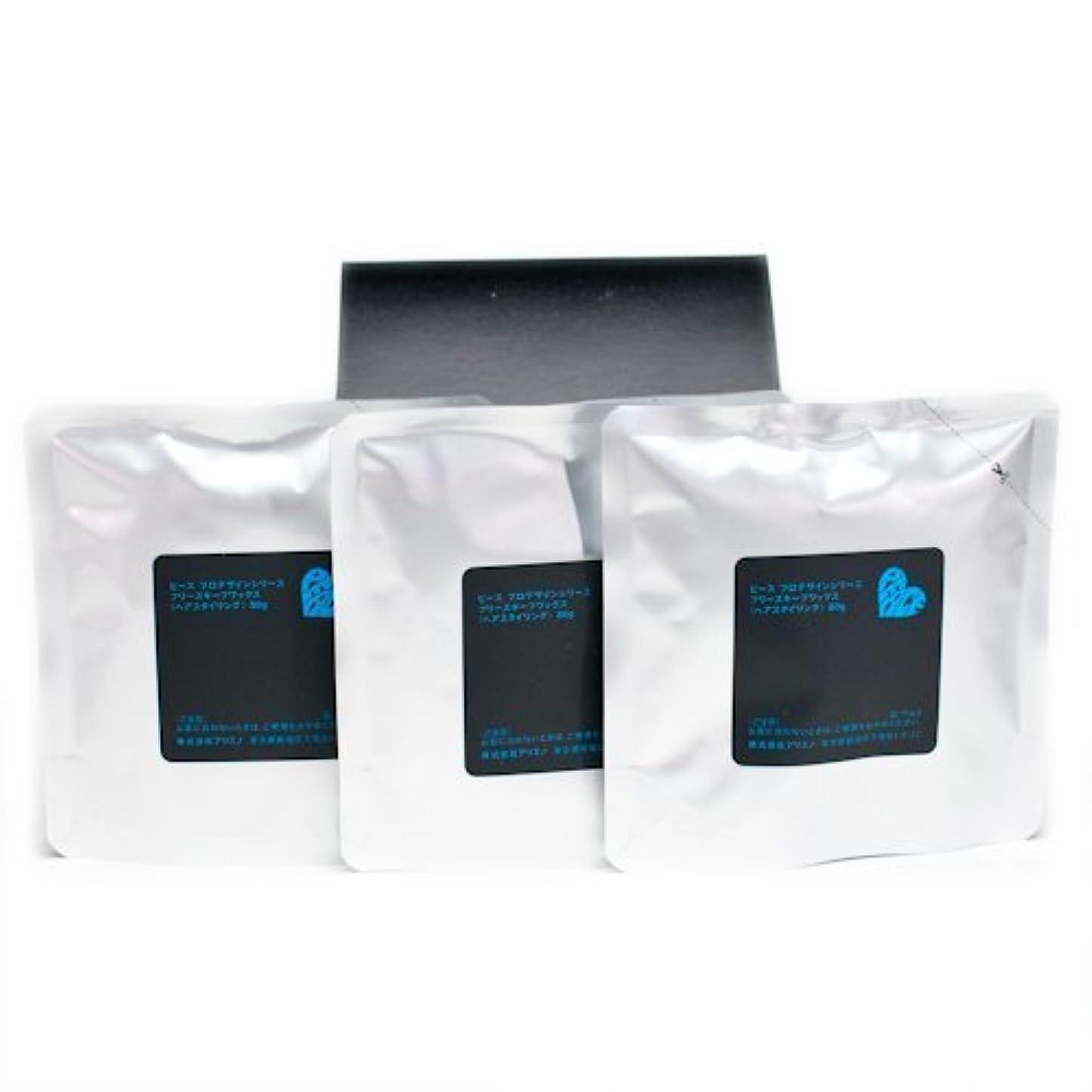 仕事に行く支店まつげアリミノ ピース フリーズキープワックス (ブラック)80g(業務?詰替用)×3個入り