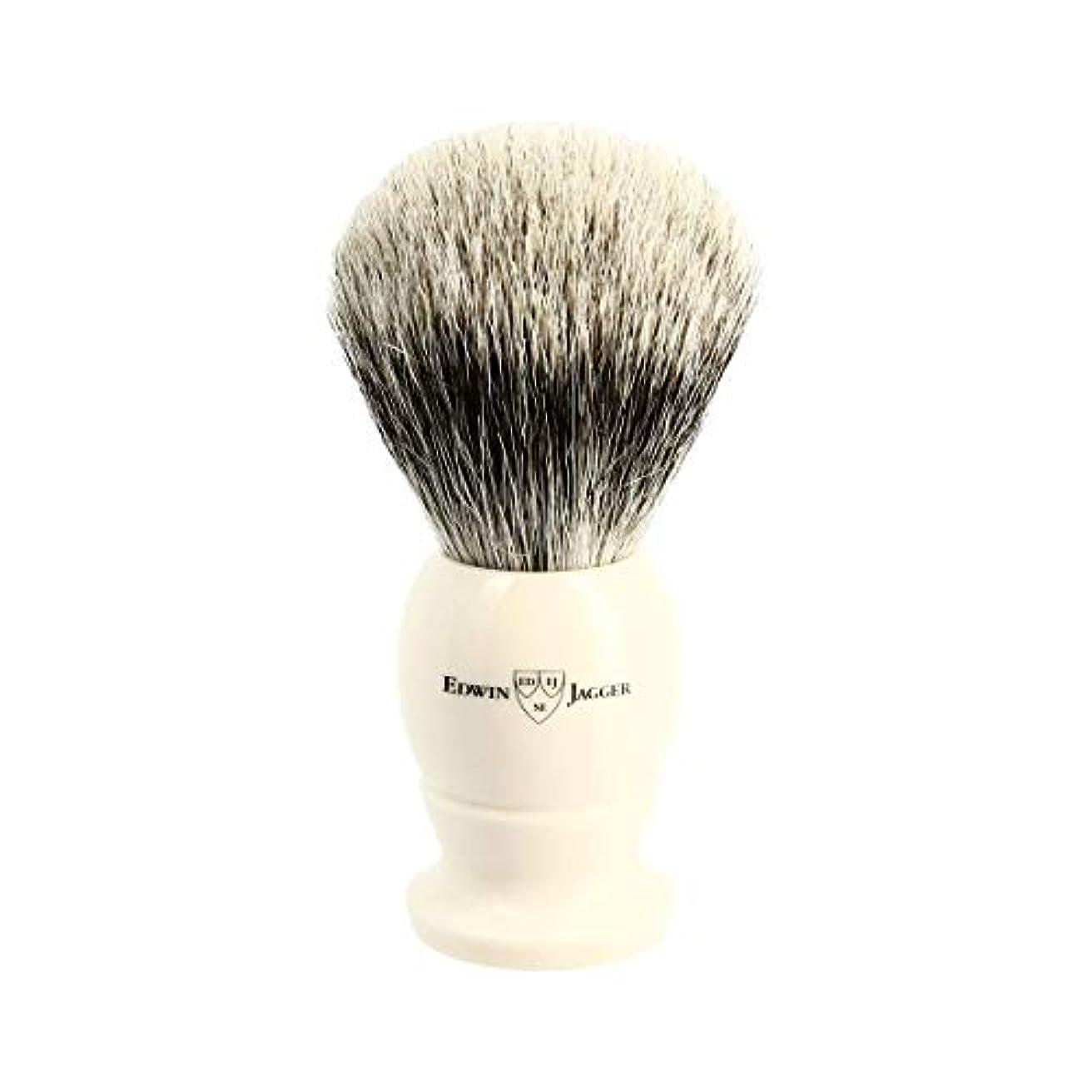 官僚ヘビ再集計エドウィンジャガー アイボリー ベストバッジャーアナグマ毛 シェービングブラシ大3EJ877[海外直送品]Edwin Jagger Ivory Best Badger Shaving Brush Large 3EJ877...