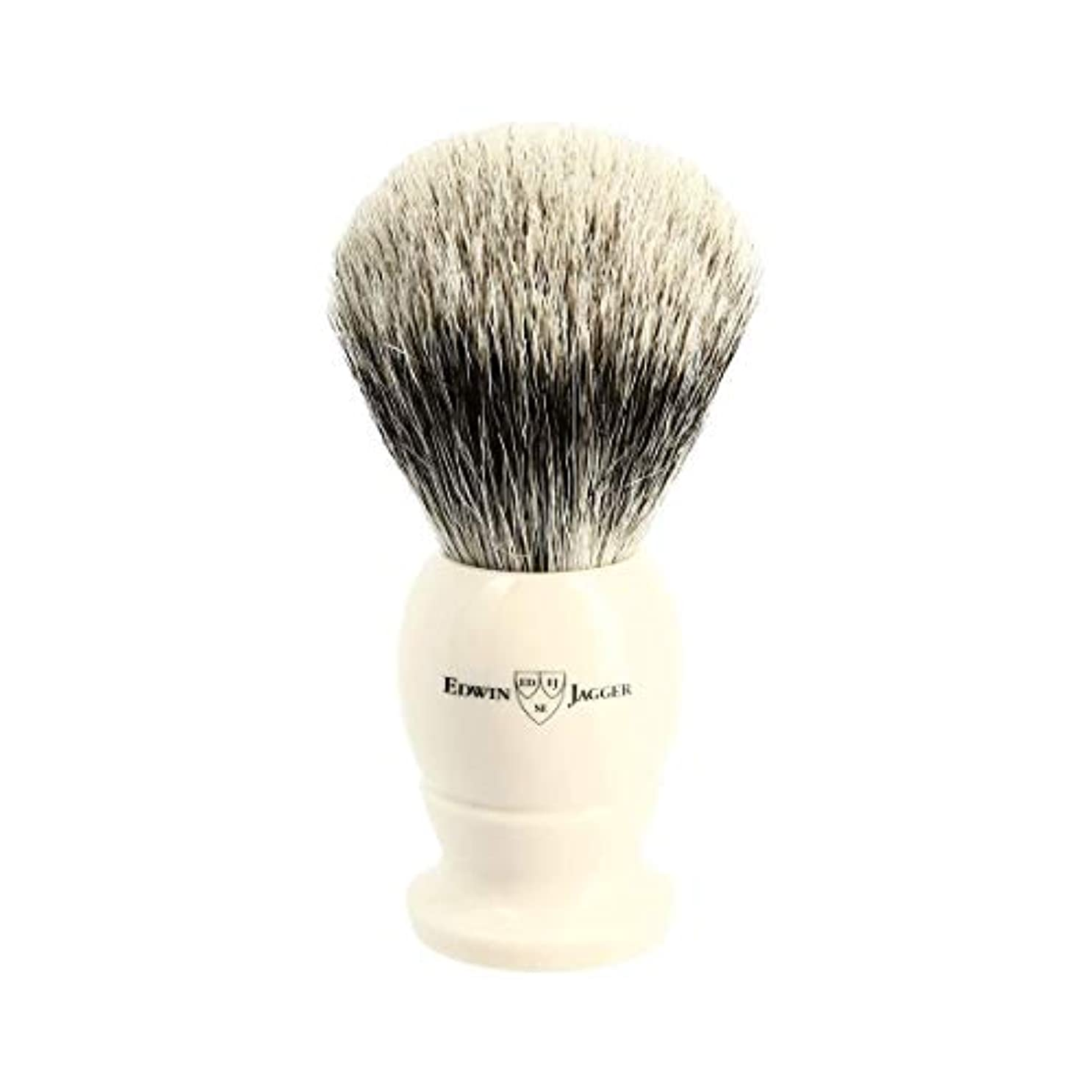 医学名門収束エドウィンジャガー アイボリー ベストバッジャーアナグマ毛 シェービングブラシ大3EJ877[海外直送品]Edwin Jagger Ivory Best Badger Shaving Brush Large 3EJ877...