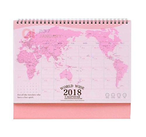 ユニークな世界地図ホーム/オフィスカレンダー(2017年1月...