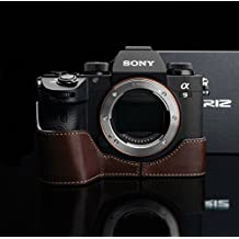 Gariz Brown Leather Camera Half Case XS-CHA9/A7RM3BR for Sony Alpha A9 ILCE-9 Sony A7RIII A7III