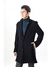 LARDINI (ラルディーニ) チェスターコート 段返り3つボタン/織柄/ウール100%【メンズ】【並行輸入品】