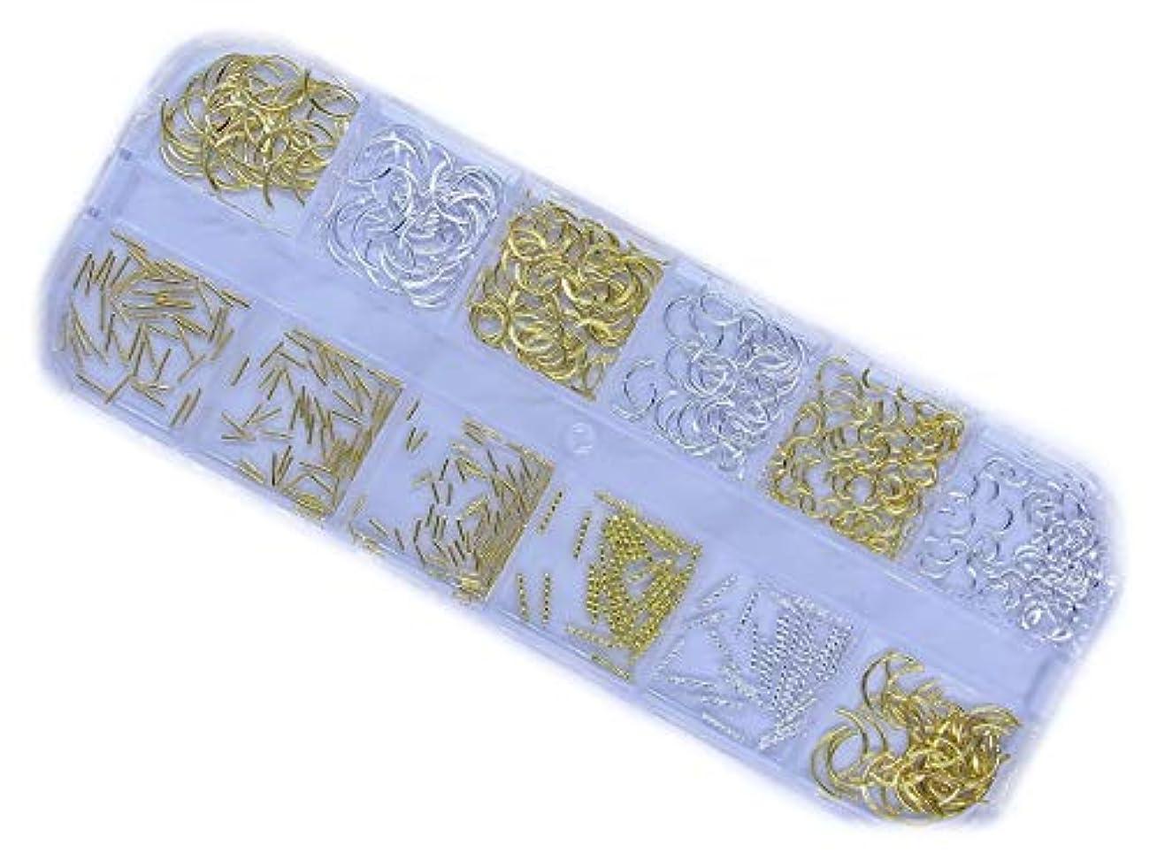 枢機卿女性博物館【jewel】メタルアーチ メタルスタッズ スティック パーツ カーブスティック ゴールド シルバー(メタルアーチ&メタルスタッズスティック)