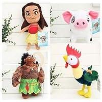 新しい4pcs /セット新しいMoana Maui Heiheiペット豚PuaソフトStuffed Plush Toy Dollムービー