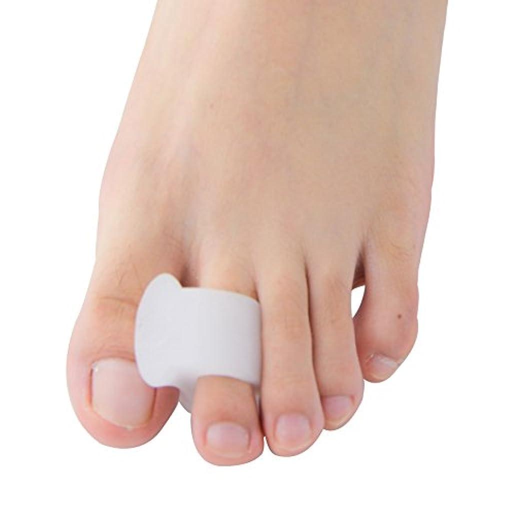 医療の観光明日Povihome ソフトゲル外反母趾セパレーターつま先バニオンプロテクターパッド,柔らかゲルでやさしくサポート (10個入り)