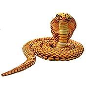 Enhong 蛇 動物 爬虫類のぬいぐるみ 蛇ぬいぐるみ 特大  飾り物 ハロウィン プレゼン ギフト 2.8M イエロー