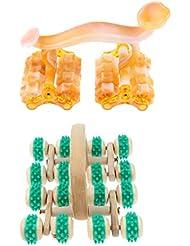 Perfeclan フェイス ボディー用 マッサージローラー 痛み緩和 快適 木製 ゴム プラスチック 高品質