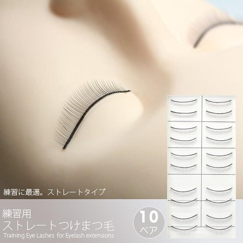 橋脚一月慣習練習用ストレートつけまつげ(10ペア)[Training Eye Lashes ]/まつ毛エクステ商材
