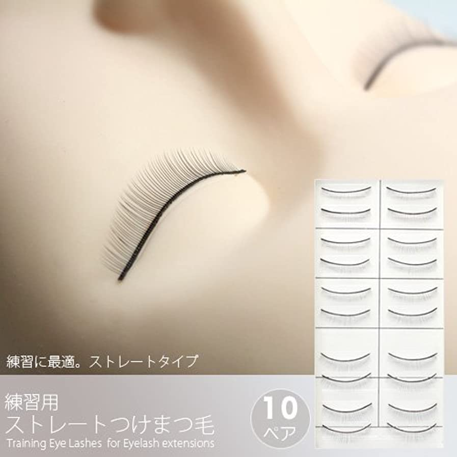 赤ちゃん驚かす瞳練習用ストレートつけまつげ(10ペア)[Training Eye Lashes ]/まつ毛エクステ商材