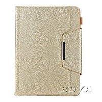 FidgetGear iPad用キラキラタブレットケース保護スキンカードホルダーフリップフォリオスタンド ゴールド