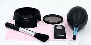 Nikon D3300 D5300 初めてキット 標準52mm レンズ用 レンズフード CPLフィルター 遠隔リモコン ブロア等 6点セット