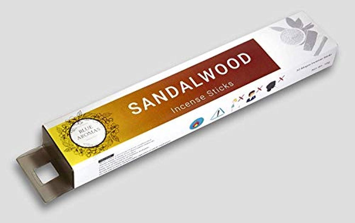 化石維持獣Blue Aromas Sandalwood Incense Sticks Agarbatti | Pack of 2, 50 Gram Each Masala Incense | Export Quality (Sandalwood)