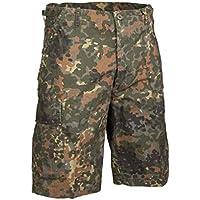 Mil-Tec Men's US Prewashed Ripstop Bermuda Shorts Flecktarn