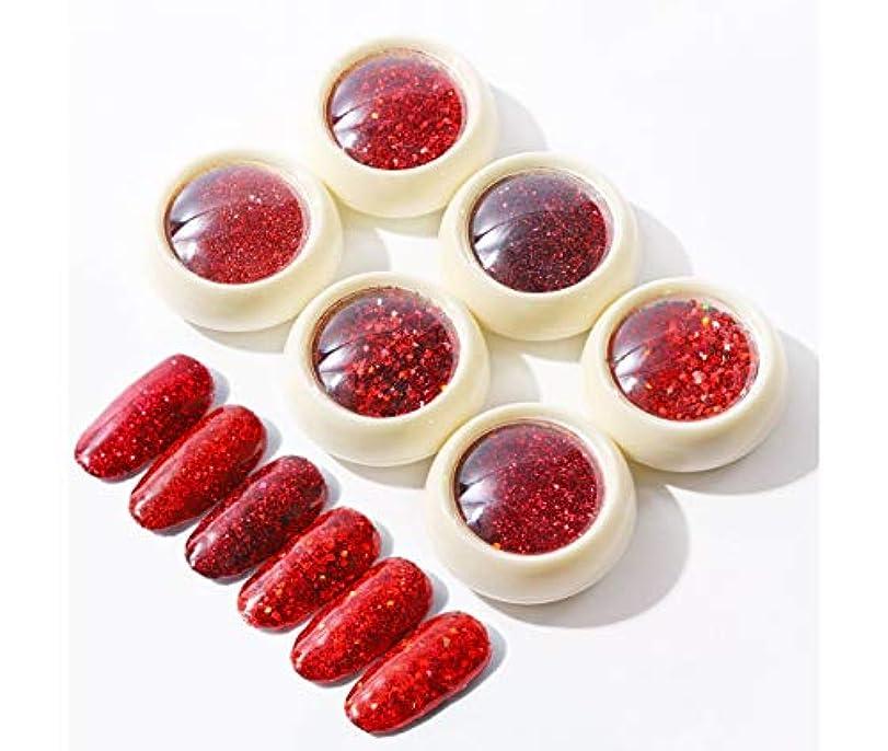 グッゲンハイム美術館有用強盗Kerwinner 3Dネイルアート混合Glittertネイルパウダーネイルズ粉塵マニキュアネイルアートの装飾チャームアクセサリーを輝きます (Color : Diamond red series)