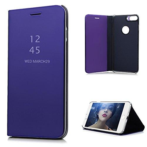 iPhone7 Plus ケース ミラー 鏡面 手帳型 高級...