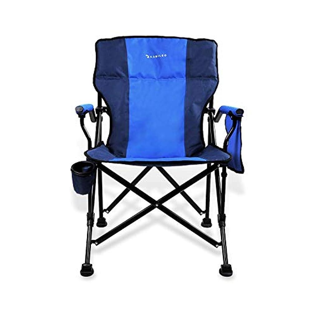 アプライアンス日記性格Kamileo Camping Chair, Folding Portable Lawn Chair with Padded Armrest Cup Holder and Storage Pocket (Carry Bag Included) [並行輸入品]