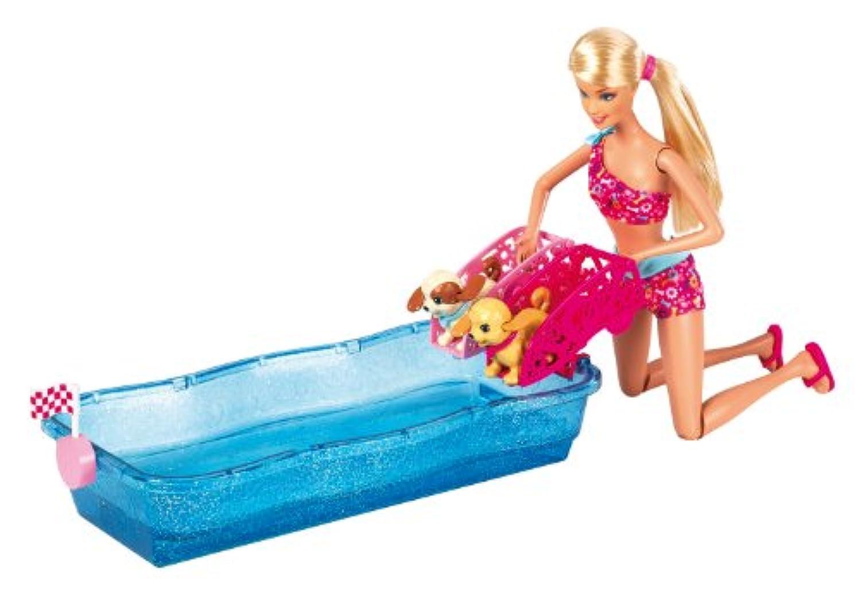 バービー   Barbie Swim and Race Pups Playset  輸入品