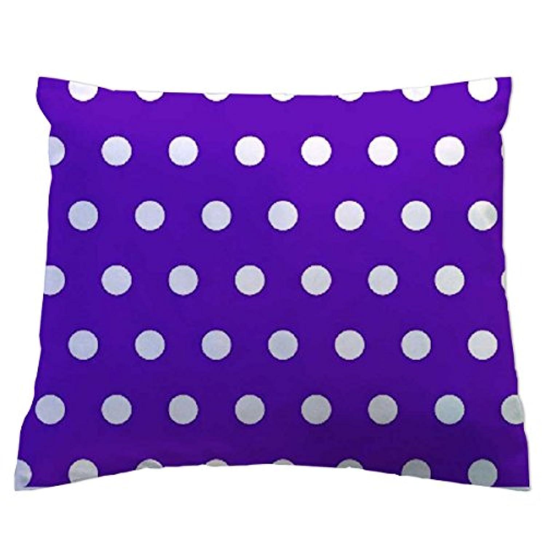 SheetWorld Crib / Toddler Percale Baby Pillow Case - Polka Dots Purple - Made In USA by sheetworld
