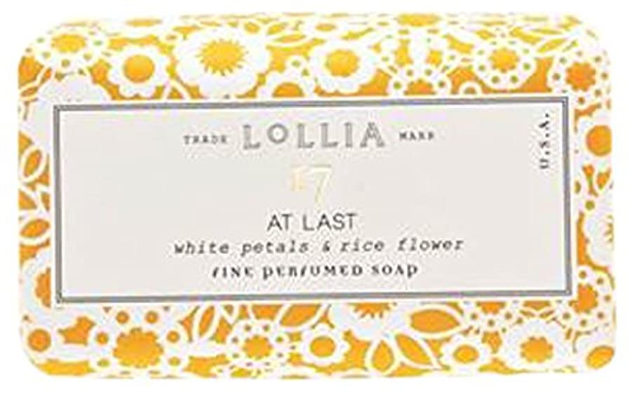 奨学金サンダルつまらないロリア(LoLLIA) フレグランスソープ140g AtLast(化粧石けん 全身用洗浄料 ライスフラワー、マグノリアとミモザの柔らかな花々の香り)