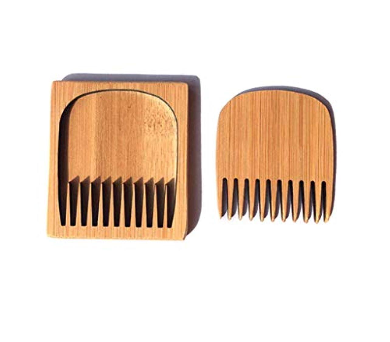 気怠い虚弱異邦人竹木製小箱くしメンズひげ口ひげ子供コームパーフェクト形状手作り