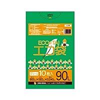 サンキョウプラテック エコ袋 90L 0.045厚 グリーン 10枚入×30冊 LG-90